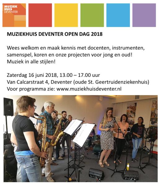 Flyer Open dag Muziekhuis 2018